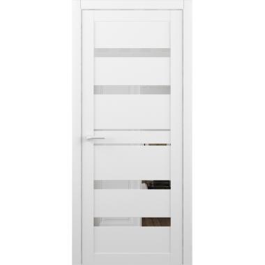 Дверное полотно Альберо  Дрезден Винил белый зеркало