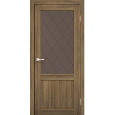 Дверное полотно KORFAD CL-01/V1 без штапика (стекло сатин бронза+рисунок М1/М2)