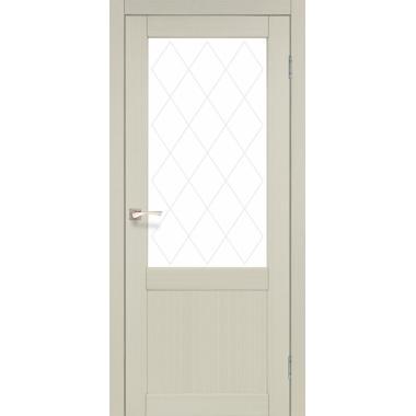 Дверное полотно KORFAD CL-01 без штапика (стекло сатин белый+рисунок М1/М2)
