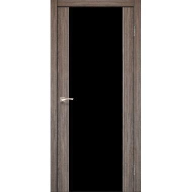 Дверное полотно KORFAD SR-01 (черное стекло)