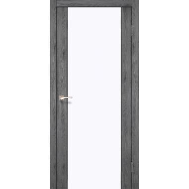 Дверное полотно KORFAD SR-01/V1 (белое стекло)