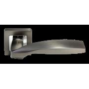 Ручка дверная  Morelli  MH- 45  GR/CP ( графит/ хром)